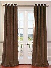 """royal-fascination Fenster/Tür 100% Dicke Baumwolle Samt Gefüttert Verdunkelung rodpocket curtain-46""""""""W x 213,4cm h-choco"""