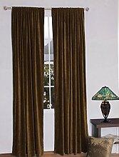 royal-fascination Fenster/Tür 100% Dicke Baumwolle Samt Gefüttert rodpocket Vorhang, verdunkelnd,, Samt, Schokoladenbraun, 46''w X 54''h