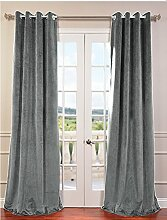 royal-fascination Fenster/Tür 100% Dicke Baumwolle Samt Gefüttert Verdunklungsvorhänge mit Thermoeffekt/gormmet Vorhang, Samt, stone, 50''w X 108''h