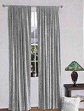 royal-fascination Fenster/Tür 100% Dicke Baumwolle Samt Gefüttert rodpocket Vorhang, verdunkelnd,, Samt, silber, 46''w X 54''h