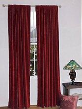 royal-fascination Fenster/Tür 100% Dicke Baumwolle Samt Gefüttert rodpocket Vorhang, verdunkelnd,, Samt, burgunderfarben, 66''w X 54''h