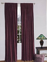 royal-fascination Fenster/Tür 100% Dicke Baumwolle Samt Gefüttert rodpocket Vorhang, verdunkelnd,, Samt, pflaume, 50''w X 72''h