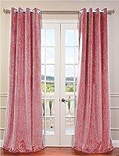 royal-fascination Fenster/Tür 100% Dicke Baumwolle Samt Gefüttert Verdunklungsvorhänge mit Thermoeffekt/gormmet Vorhang, Samt, hautfarben, 90''w X 54''h