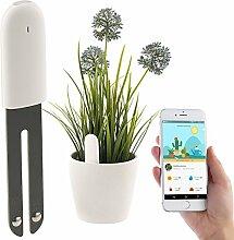 Royal Gardineer Zubehör zu Pflanzenwächter: 4in1-Pflanzensensor m. Bluetooth, App-Kontrolle, 1 Jahr Laufzeit, IPX5 (Pflanzen-Sensor)