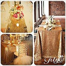 Royal Gold. Wählen Ihre Größe, glitzernde, Gold Pailletten Tischdecke, Overlays, spezielle türkis Pailletten Tischdecke Läufer, Sonstige, gold, 60''*120''