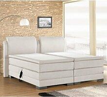 ROYAL inkl. Motor Hotelbett Amerikanisches Bett Designbett (180x200, Weiß)