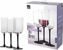 ROYAL LEERDAM Service 18 Tasse Glas Schnee Glas Weinglas und Kelch