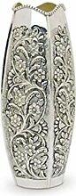 Royal Queen Silberne Vase gemeißelt Stil