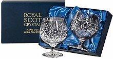 Royal Scot Crystal Kintyre Cognac-Gläser, 340 ml,