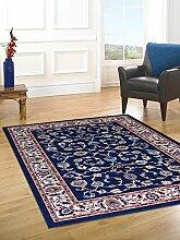 Royal Shiraz 2079 Teppich mit klassisch orientalischem Motiv–Teppich im Persischen Stil, blau Cm. 70x300 blau