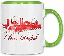 Royal Shirt Tasse I love Istanbul mit Fahne, Farbe