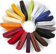 Royal Spannbettlaken 90x200 - 100x220 cm, für Wasserbetten & Boxspringbetten geeignetes Jersey-Stretch Spannbetttuch Mako-Baumwolle mit Elastan aqua-textil Bettlaken 1000837 anthrazi