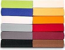 Royal Spannbettlaken für runde Wasser- & Boxspringbetten Ø ca. 245 cm, rund Jersey-Stretch Spannbetttuch Mako-Baumwolle mit Elastan aqua-textil Bettlaken 0011439 orange