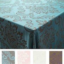 Royal Tablecloths Hochwertiger-Tischdecke, 50% Baumwolle/50% Polyester, Türkis/Grau, 229x229cm