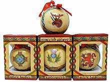 Royal Tara Weihnachtskugeln mit schottischem