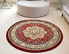"""Royal Teppiche Orient Perser Style Heritage Classic Traditionelle Hand geschnitzte Teppich, rund, rot, 150cm (4ft11"""") Durchmesser"""