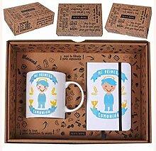 Roymart clm-400Set Geschenkbox mit Botschaft, Tasse und Notizbuch A6mit Gummi, Keramik, 25x 7x 20cm