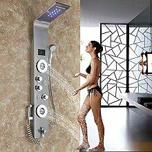 Rozin Edelstahl LED Duschpaneel 6 Funktionen