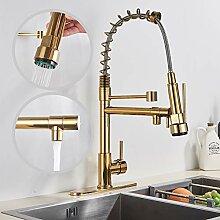 Rozin Gold Küchenarmatur Waschbecken Wasserhahn