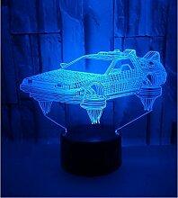 Rqcaxy 3D-Nachtlichter Stereolichter