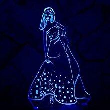 RQMQRL Romantische 3D Led Nachtlicht Lampe Liebe