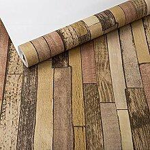 RREN-wallpaper Tapete, Imitation Wood Grain