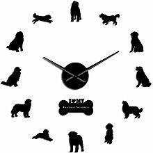 rrff Berner Sennenhund Rahmenlose Wanduhr Berner