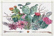 Rrfwq Botanische Feigenkaktus-Dekor-exotische