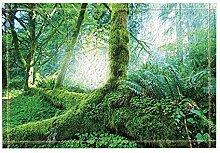 Rrfwq Forest Decor Green Virgin Wald Pflanzen Bad
