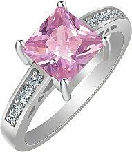 RSCD Frauen Ring Damen Hochzeit Schmuck Mädchen Verlobung Ring AAA Cubic Zirconi Trendy Party Accessoires Geschenke,Pink-8#