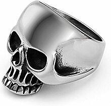 RSCD Männer Mode Ringe Retro Ringe Persönlichkeit Ringe Titan Trendy Party Geschenk,SteelColor-7#