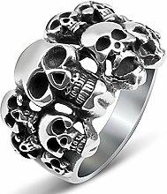 RSCD Männer Retro Ringe Mode Individualität Ringe Totenkopf Ringe Titan Trendy Party Geschenk,PhotoColor-8#