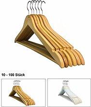 RSR Hangers 100 Stück Kinder Kleiderbügel Holz