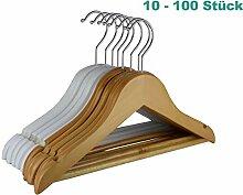 hölzerne Vintage Hanger 32cm Keshj 10 Stück/Kinder massivem Holz Rutschfeste Kleiderbügel