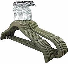 RSR Hangers 100 Stück Kleiderbügel Samt Set Grau