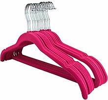 RSR Hangers 100 Stück Kleiderbügel Samt Set Pink