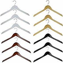RSR Hangers 100 x Kleiderbügel Holz Weiß |
