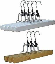 RSR Hangers 20 x Hosenspanner Klemmbügel Holz
