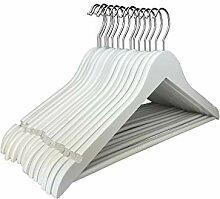 RSR Hangers 50 x Holzkleiderbügel Kleiderbügel