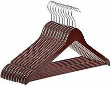 RSR Hangers 50 x Kleiderbügel Holz Braun