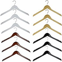 RSR Hangers 50 x Kleiderbügel Holz Schwarz |
