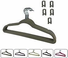 RSR Hangers 50 x Kleiderbügel Samt Grau