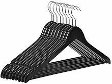 RSR Hangers Kleiderbügel Holz 10 Stück Schwarz