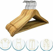 RSR Hangers Kleiderbügel Holz 20 Stück Schwarz