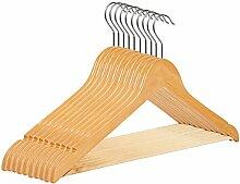 RSR Hangers Kleiderbügel Holz Natur 100 Stück