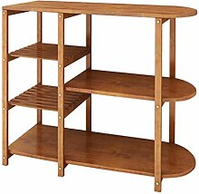 RSWLY Küchenregal mit 5 Etagen, Bambusboden, für