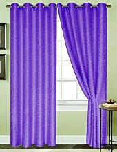 RT Collection Aurora Fenster Vorhang Panel, 54von 229cm, Neon Lila