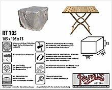 RT105 Schutzhülle für quadratische Gartentisch, passt am besten am Tisch von max. 100 x 100 cm Schutzhülle für rechteckigen Gartentisch, Abdeckhaube für Gartentisch, Gartenmöbel Abdeckung
