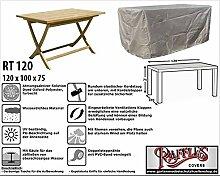 RT120 Schutzhülle für rechteckige Gartentisch, passt am besten am Tisch von max. 120 x 90 cm Schutzhülle für rechteckigen Gartentisch, Abdeckhaube für Gartentisch, Gartenmöbel Abdeckung