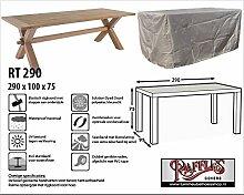 RT290 Schutzhülle für rechteckige Gartentisch Schutzhülle für rechteckigen Gartentisch, Abdeckhaube für Gartentisch, Gartenmöbel Abdeckung